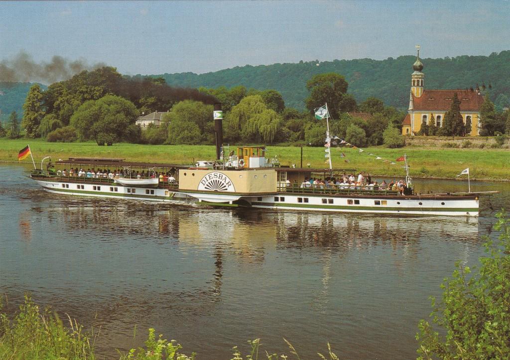 1991 PD Diesbar in Fahrt bw bei Hosterwitz Repro-AK