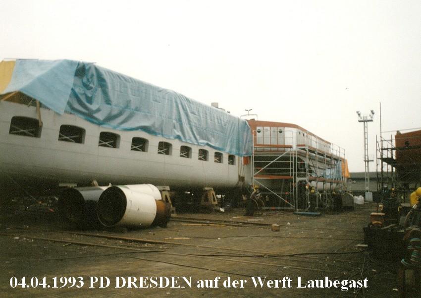 1993-04-04 PD DRESDEN auf Slip Werft Laubegast