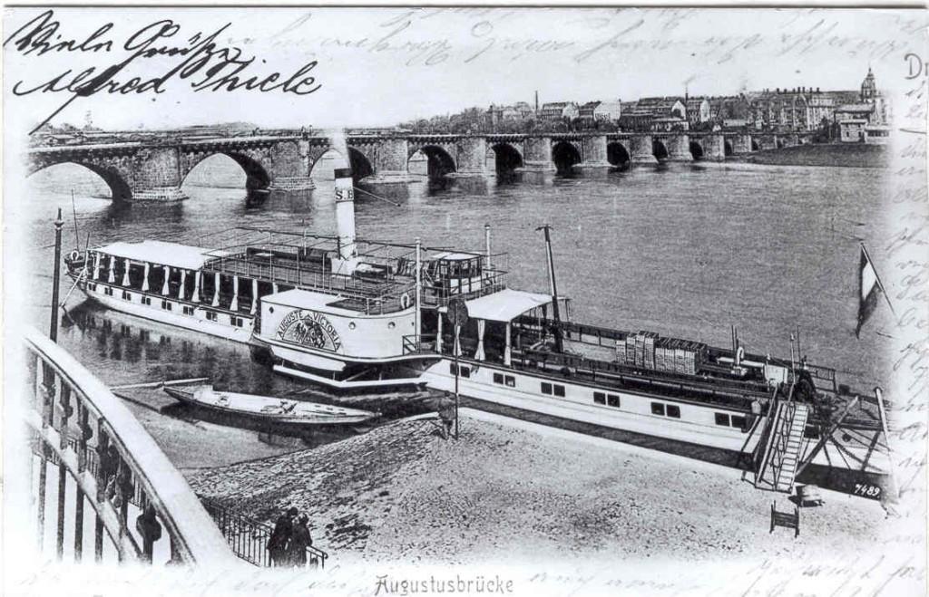 AUGUSTE VICTORIA um 1900 am Terrassenufer