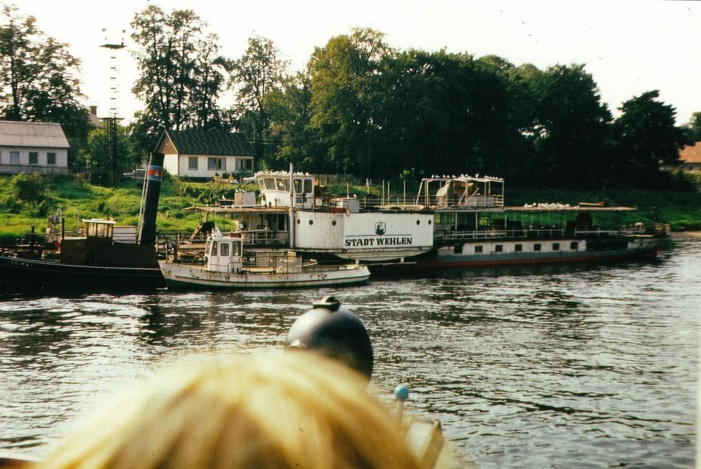 DS Stadt Wehlen an der Werft Laubegast um 1980