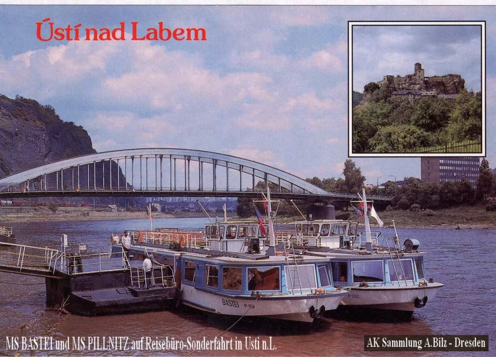 MS Bastei und MS Pillnitz in Usti auf Sonderfahrt