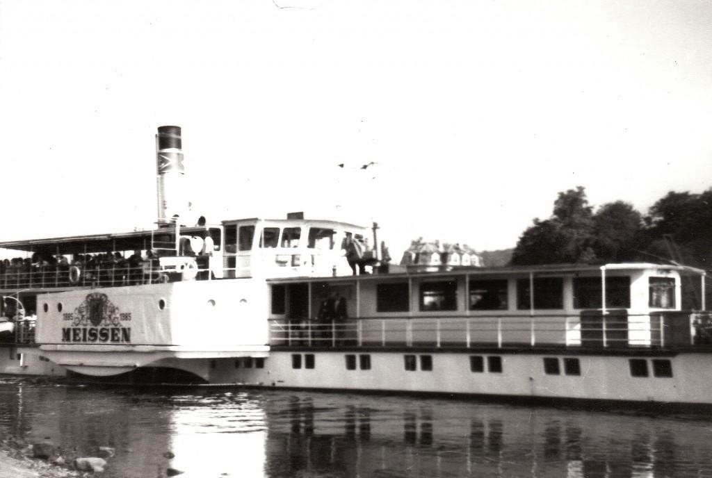 1985 PD Meissen am Anleger Kleinzschachwitz