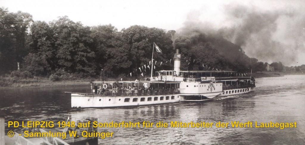 1948 PD LEIPZIG auf Sonderfahrt für Werftangehörige bei Pillnitz - Foto W.Quinger