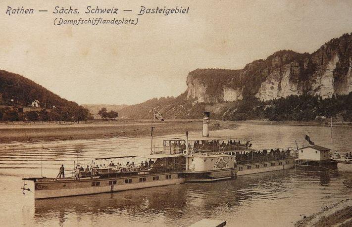 1927um PD STADT WEHLEN bw in Kurort Rathen