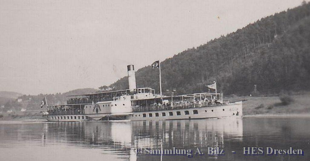 1936 DRESDEN in Fahrt - Repro Foto unbekannt