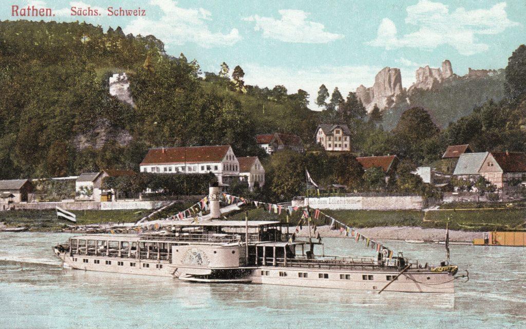 1899 PD AUGUSTE VICTORIA in Kurort Rathen - OrigAK Samml ABz