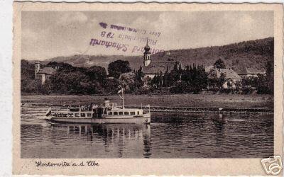 MS von Hindenburg bei Hosterwitz