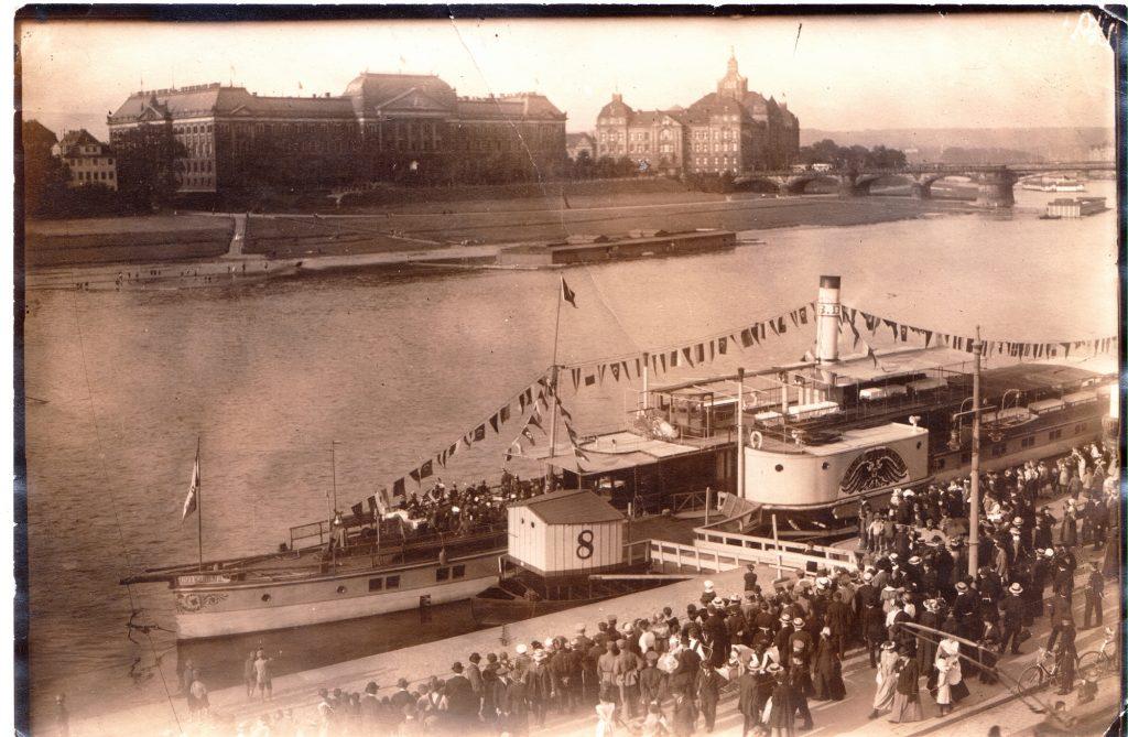 1910um PD KAISER WILHELM am Terrassenufer - ReproOriginalfoto SammlABz