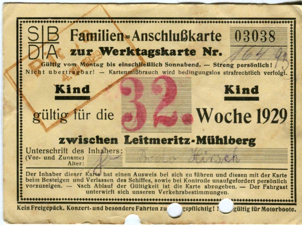 1929 Kinder-Anschlusskarte