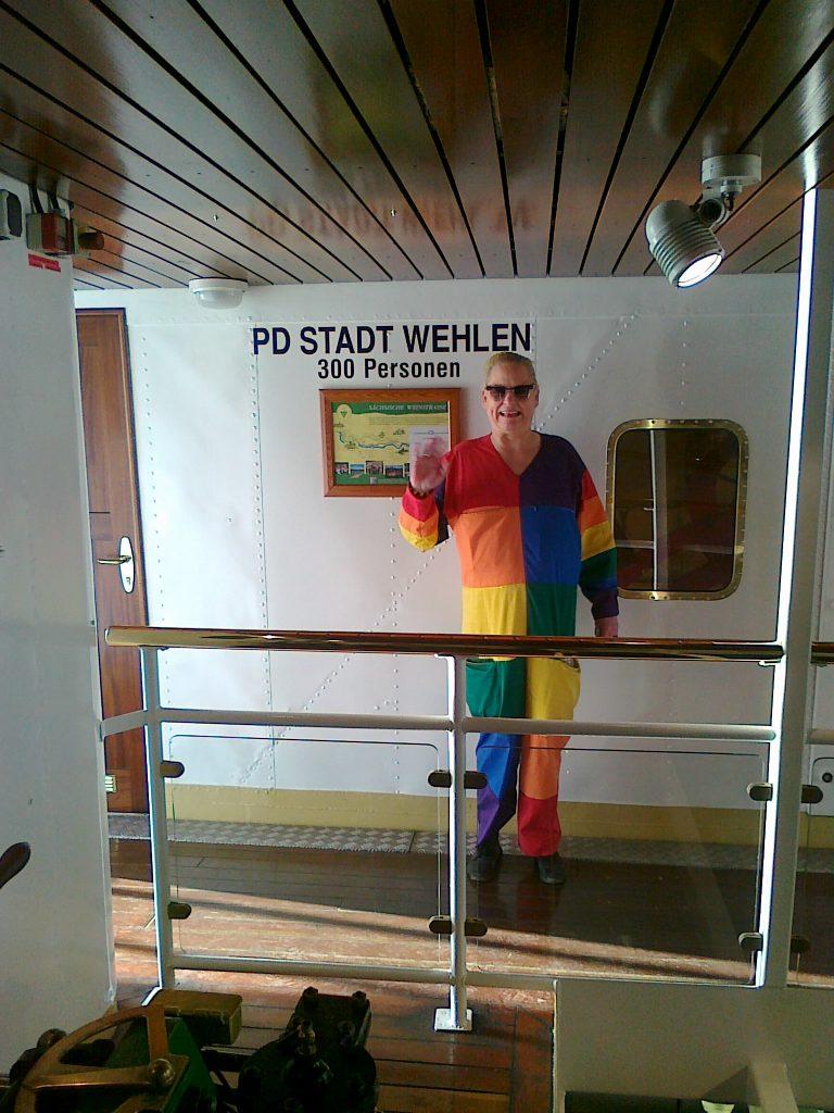 2011-08-22 Helga von Sinnen auf dem STADT WEHLEN, Foto Archiv Steffen Seidel(1)